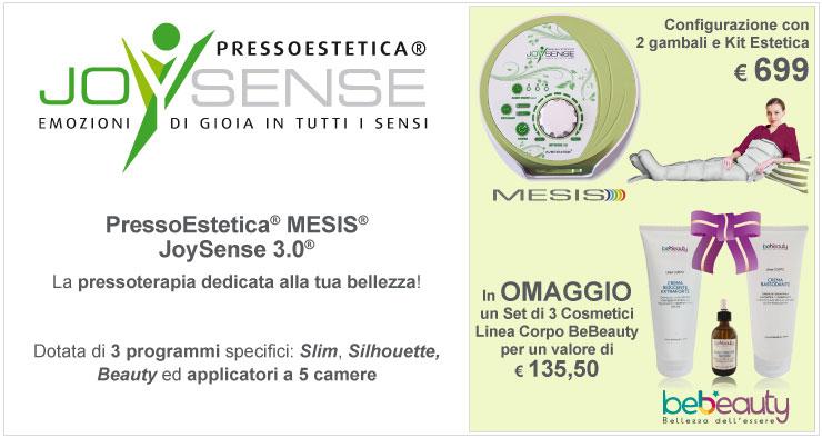 PressoEstetica Mesis JoySense 3.0 con 2 gambali e kit + set 3 creme Line Corpo Bebeauty in Omaggio