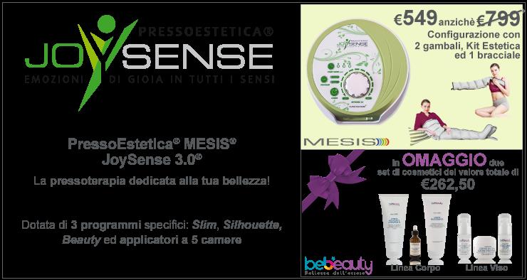 JoySense 3.0 con 2 gambali, kit estetica e 1 bracciale in promozione a 549 + 2 set di cosmetici