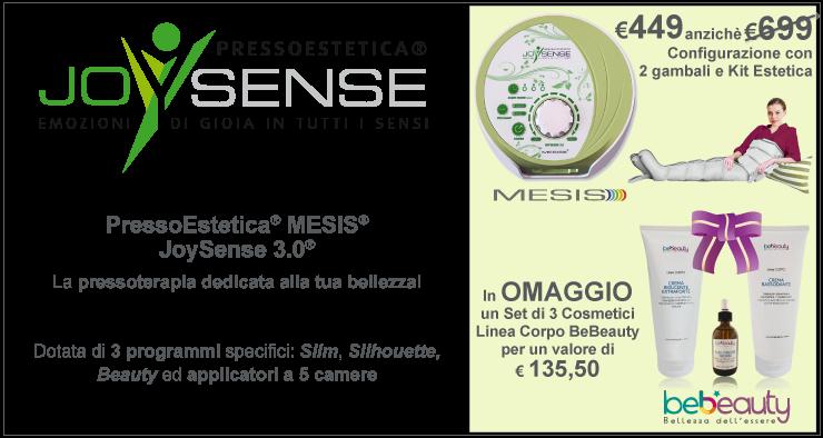JoySense 3.0 con 2 gambali e kit estetica in promozione a 449€ + 1 set cosmetici linea corpo BeBeauty