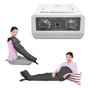 PressoMassaggio Plus+ con 2 gambali, fascia addominale e bracciale.
