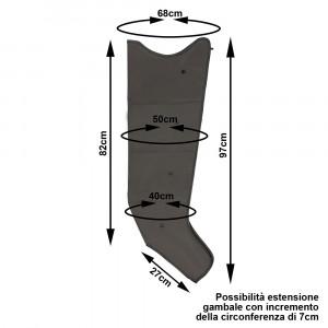 Intense Waves Pressomassage misure di ciascun gambale di tipo Sovrex