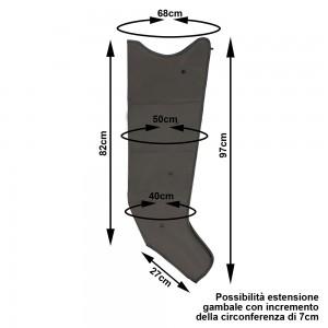 PressoMassaggio® Plus+ misure di ciascun gambale di tipo Sovrex