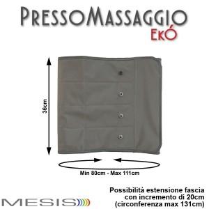 PressoMassaggio® EkÓ misure fascia addominale/glutei